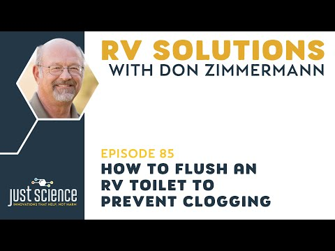 RV:85 How to Flush an RV Toilet to Prevent Clogging.