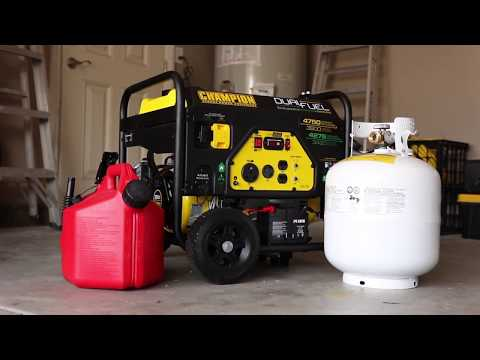 Champion 3800-Watt Dual Fuel RV Ready Portable Generator with Electric Start (Overview 76533)