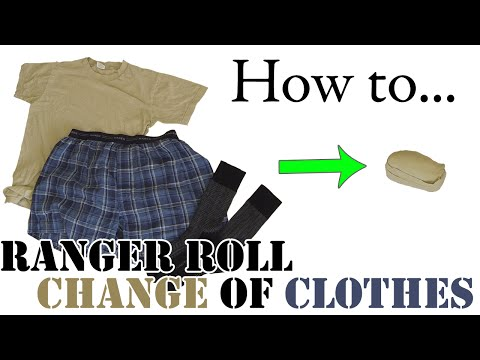 Army Hack: How to Fold a Day's Change of Clothes - Ranger Roll Compact Packing for Travel / Vacation