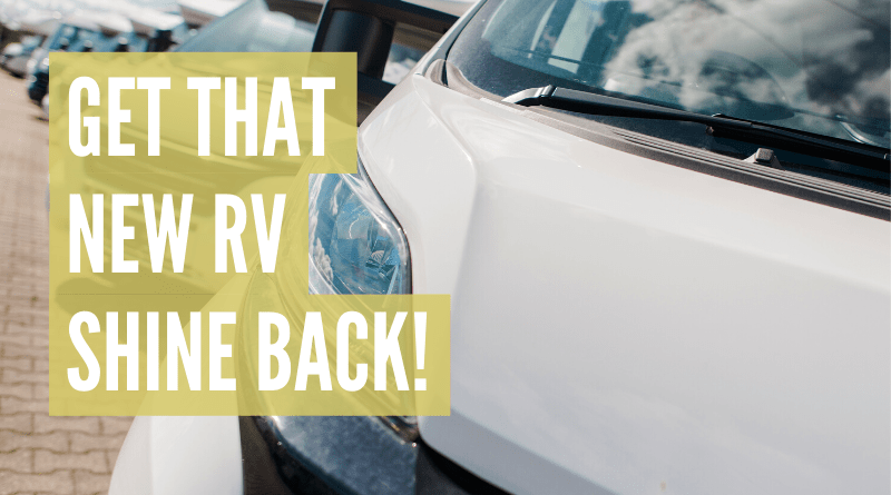 How to remove oxidation from rv fiberglass