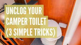 How To Unclog A Camper Toilet (3 Simple Tricks)