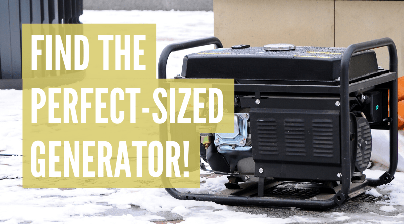 what size generator do i need for my camper