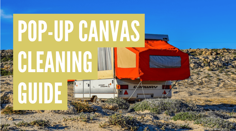 how to clean pop up camper canvas