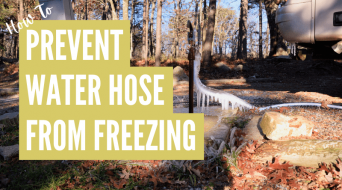 How To Keep RV Water Hose From Freezing (Best Methods)