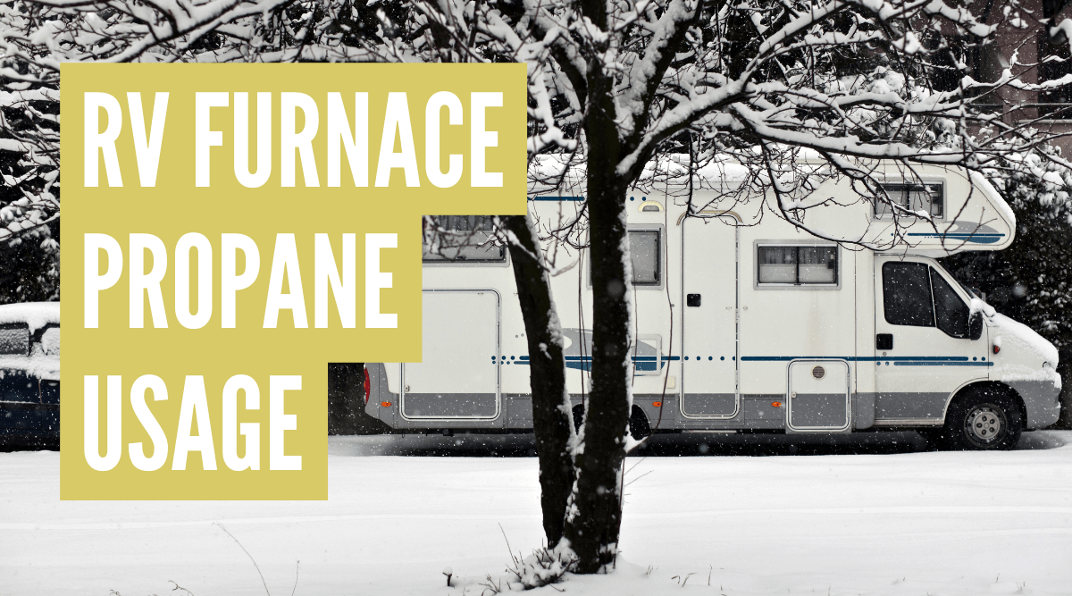 How much propane does an RV furnace use