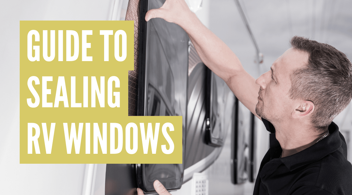 How to seal RV windows