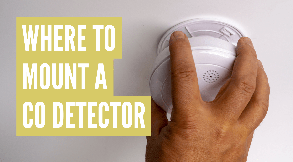 Where to mount carbon monoxide detector in rv
