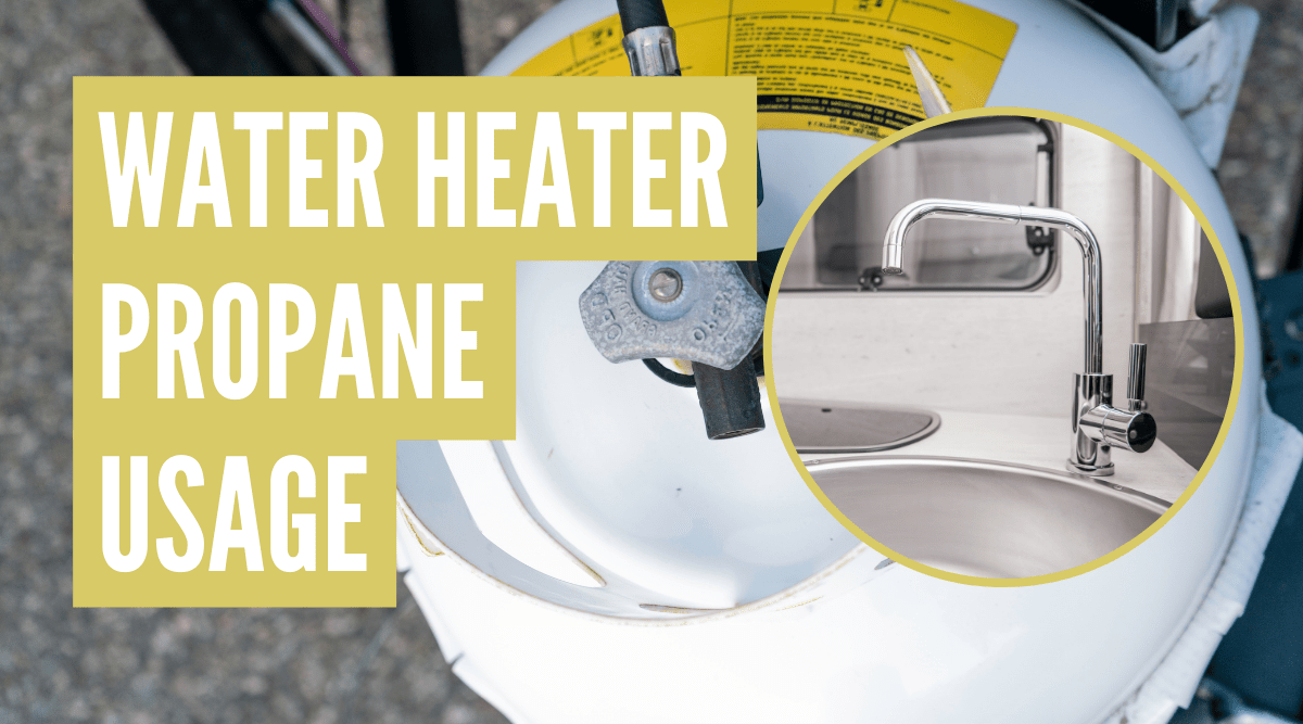 how much propane does an RV water heater use
