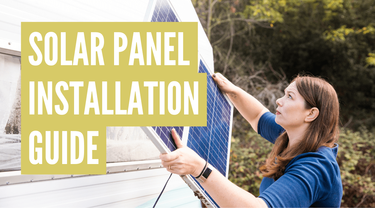 how to hook up solar panels to rv batteries